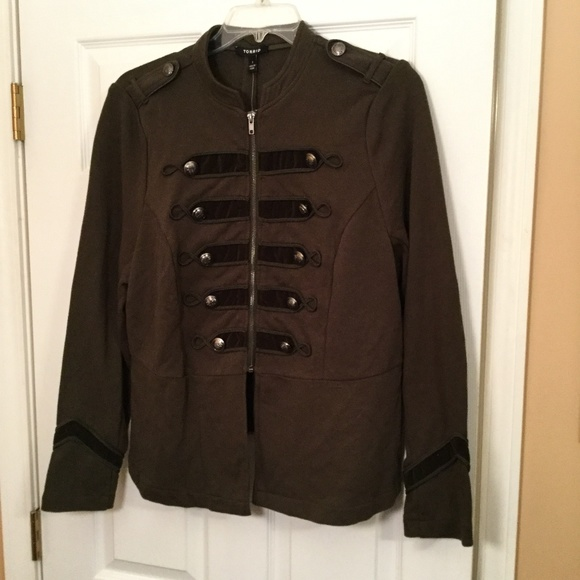 34579297f3a Torrid Size 1 Olive Zip Front Military Jacket